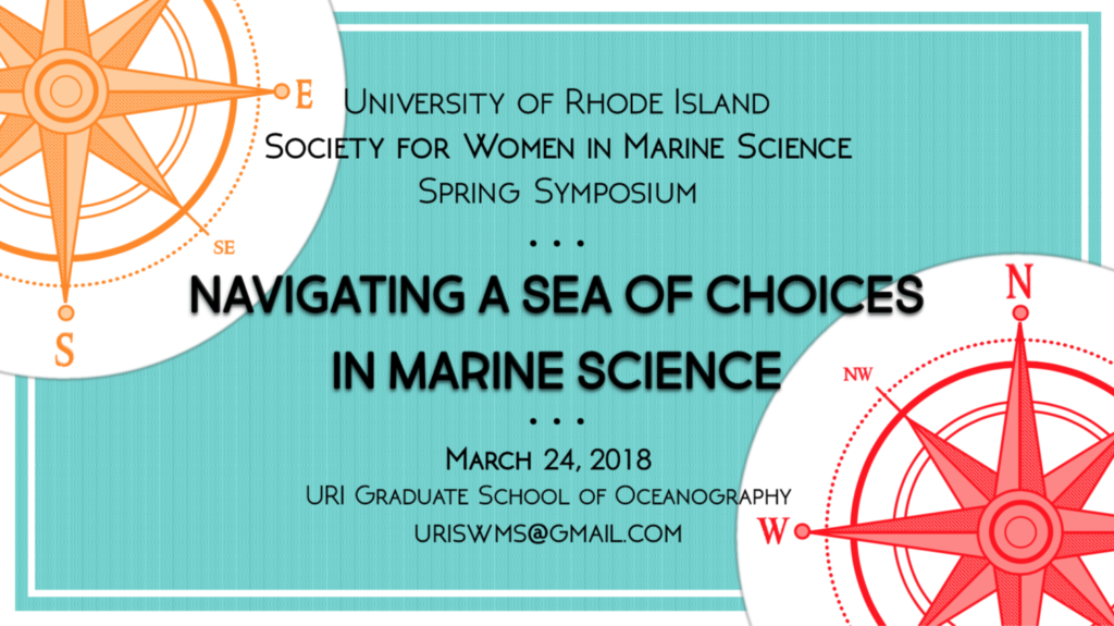save the date for SWMS 2018, with two compasses on a blue background. contact uriswms@gmail.com with questions.